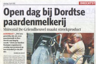 Artikel in het AD n.a.v. Open Dag  juli 2010